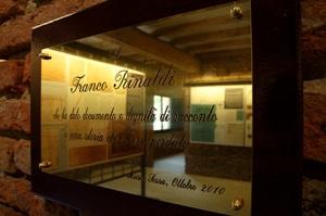 Targa di dedica a Franco Rinaldi