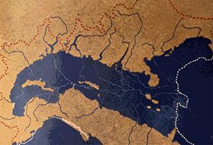 Padania nel pliocene