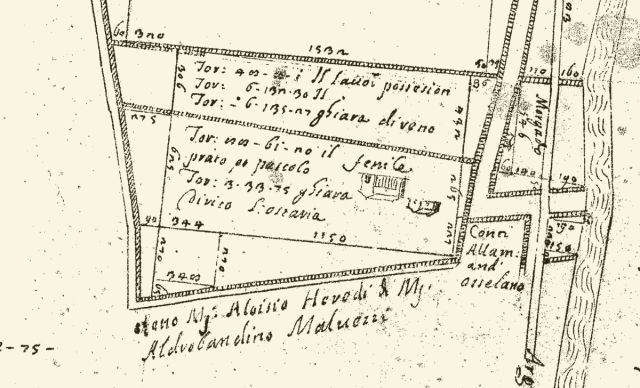 Rilievo Ruini 1561 dettaglio Palazzo
