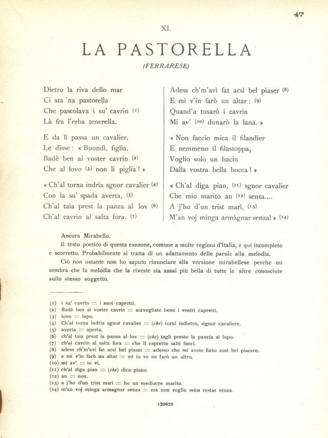 Canti Emiliani Pastorella 1