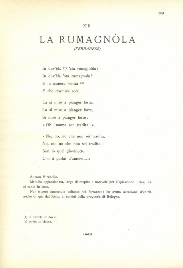Canti Emiliani Rumagnola 1