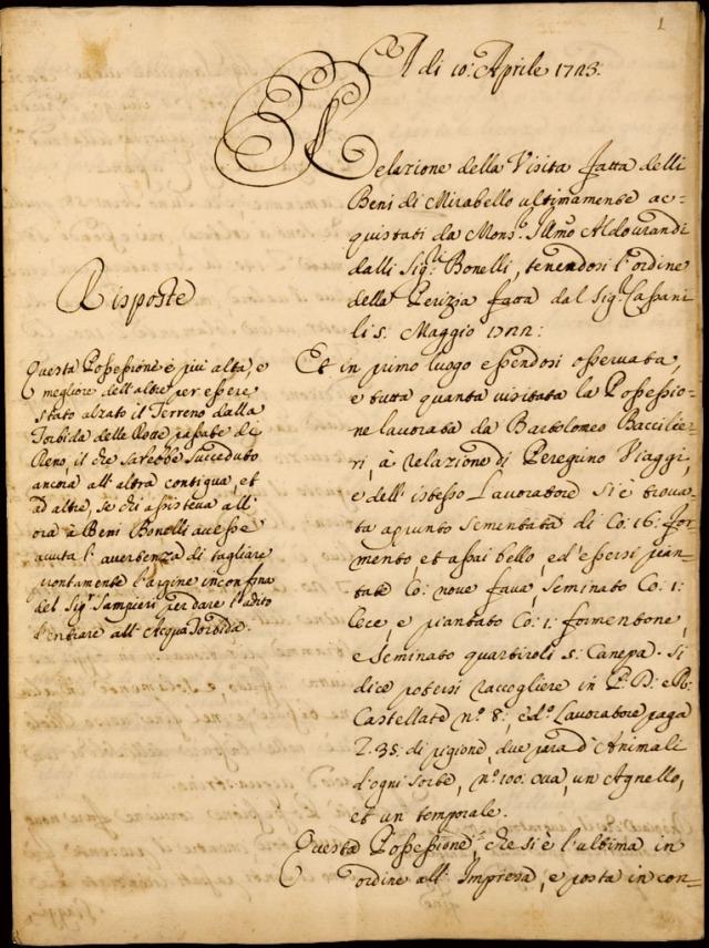 15 Relazione 1723 Beni Aldrovandi nero